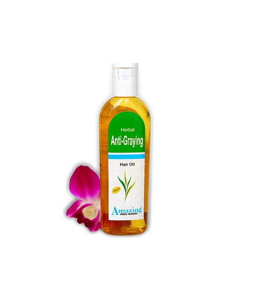 Herbal Anti-Graying Hair Oil