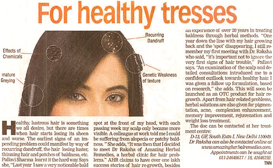 For healthy tresses